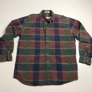 St Michael Plaid Flanel Button Up Shirt Medium